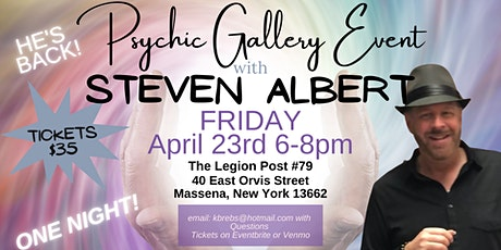 Steven Albert: Psychic Gallery Event - Massena Legion tickets