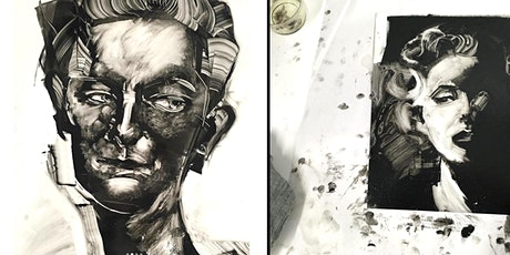 Portraiture with Monoprinting - Online Workshop tickets