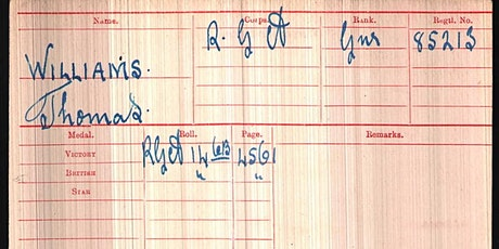 Battalions and Brigadiers? – Interpreting Military Records tickets
