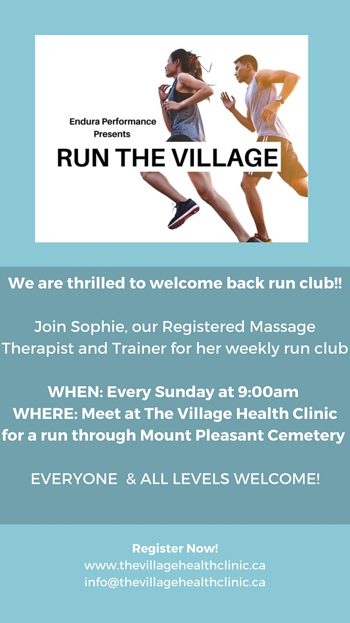 Run the Village- Free Run Club image