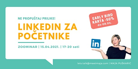 LinkedIn za početnike - ZOOMINAR tickets