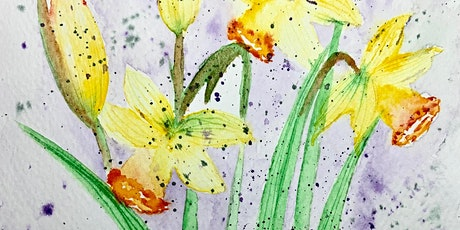 Spring  Special Daffodil Bouquet Watercolour Workshop 14-April 4.00 pm GMT tickets