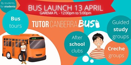 Tutor Canberra Bus Launch tickets