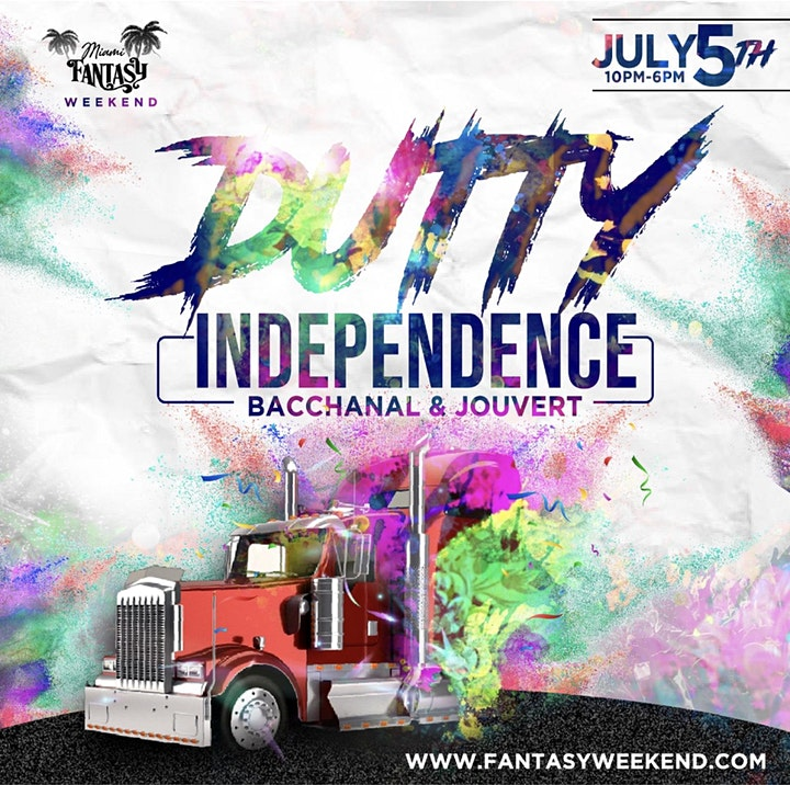"""Event #5 DUTTY INDEPENDENCE """"Bacchanal & Jouvert"""" image"""