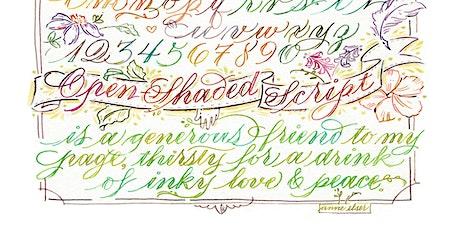 Monolinear Lettering (Open Shaded Script) (Anne Elser) tickets