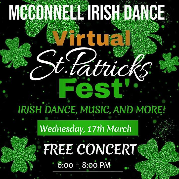 Virtual St. Patrick's Fest' 2021  6:30 - 7:30 PM image
