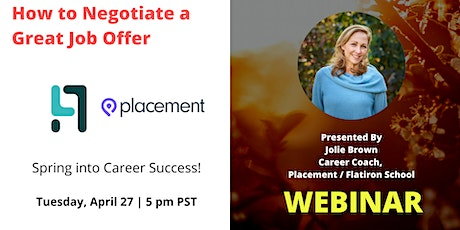 How to Negotiate a Great Job Offer tickets