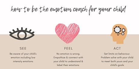 Becoming your child's emotion coach - 4-week online group program tickets