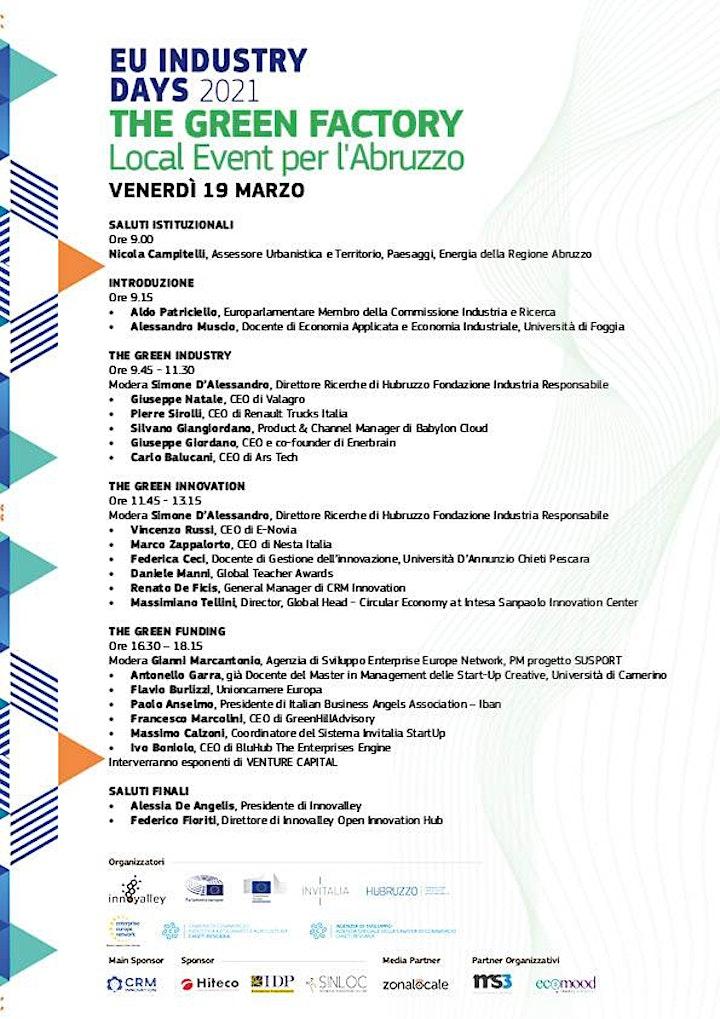 Immagine THE GREEN FACTORY. EU Industry Days 2021_Local event per l'Abruzzo