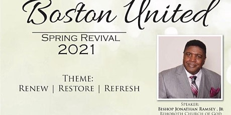 Boston United Spring Revival 2021: Renew/Restore/Refresh tickets