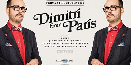 Dimitri From Paris @ Canvas tickets