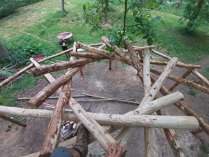 Timber Roundhouse Construction image