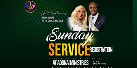 Adonai Ministries Sunday Service Registration tickets