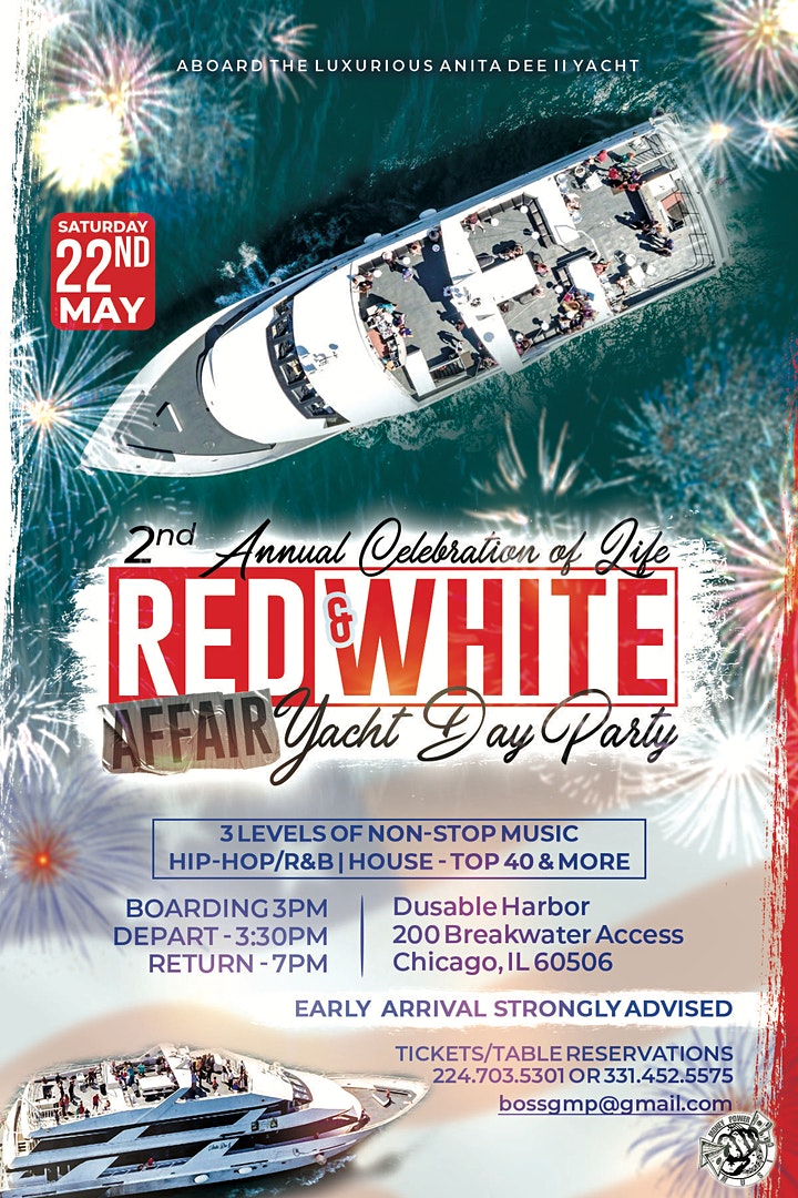 2ND ANNUAL RED & WHITE AFFAIR YACHT DAY PARTY image