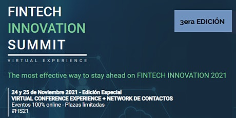 FINTECH INNOVATION SUMMIT -  3ª EDICIÓN entradas