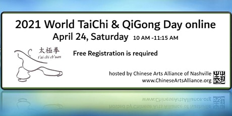 World TaiChi & QiGong Day in Nashville (online) April 24, 2021 at 10 AM tickets