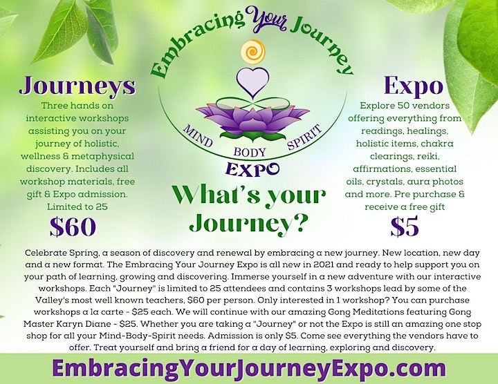 Embracing Your Journey Expo - April 24th 2021 image