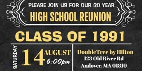 Greater Lawrence Regional Class of 1991 30 Year Reunion tickets