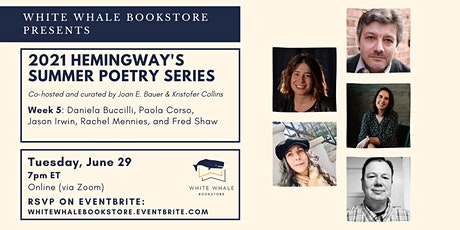 Hemingway's Poetry Series: Buccilli, Corso, Irwin, Mennies, Shaw tickets