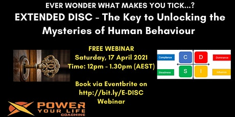 Extended DISC – Your Key to Unlock the Mysteries of Human Behaviour tickets