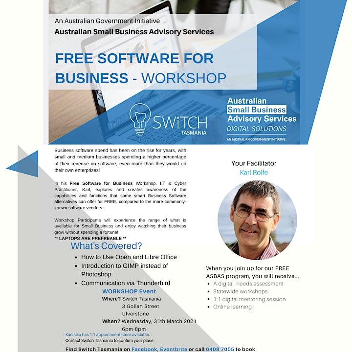 FREE SOFTWARE FOR BUSINESS - WORKSHOP image