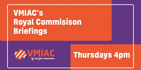 VMIAC RC Briefings: NDIS  implications tickets