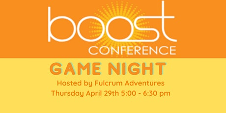 BOOST Virtual Game Night Hosted by Fulcrum tickets