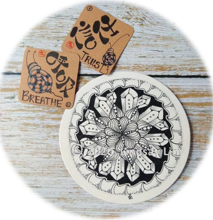 Zentangle Intermediate Course starts  Oct 22 (8 sessions) image