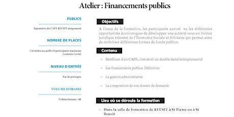 Atelier Financement Public billets