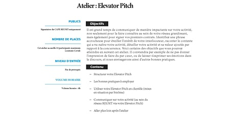 Atelier Elevator Pitch tickets