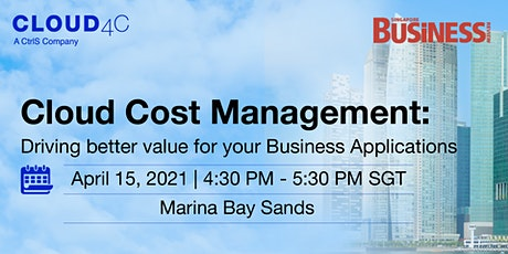Cloud cost management: Driving better value for your business applications tickets