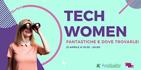 Tech Women fantastiche e dove trovarle! boletos