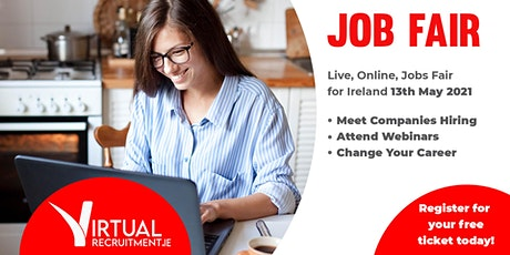 Virtual Recruitment Expo - Online Jobs Fair (Thurs, 13th  May, 2021) tickets