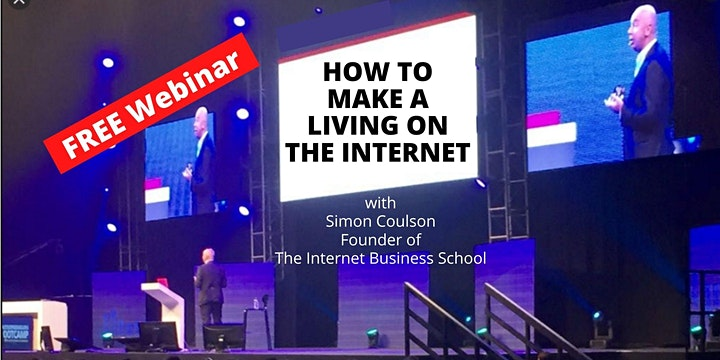 How To Make A Living From The Internet - New Event with Simon Coulson image
