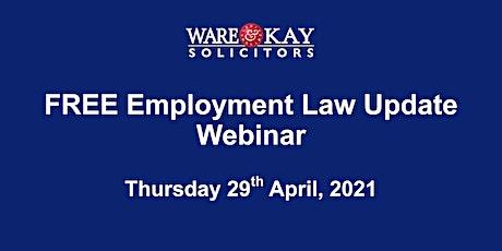 Free Employment Law Update Webinar tickets