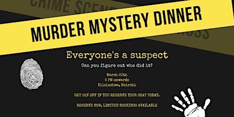 THE FINAL ORDER'S MURDER MYSTERY DINNER tickets