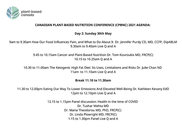2nd Canadian Plant-Based Nutrition Conference image
