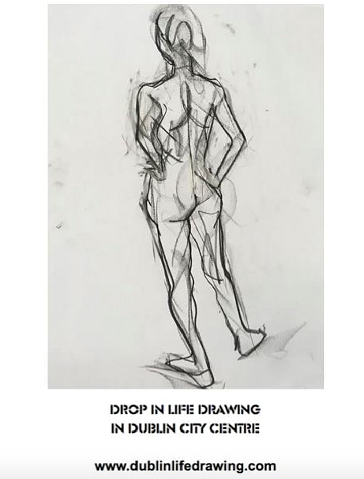 Friday Evening Drop-in Life Drawing- ONLINE CLASS image