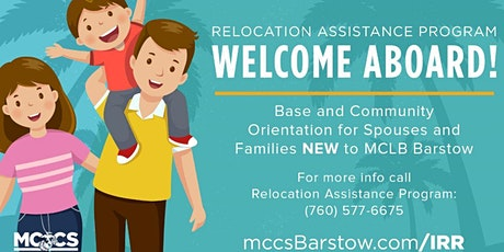 Welcome Aboard - MCLB Barstow tickets