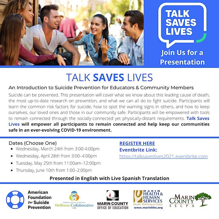 Talk Saves Lives image