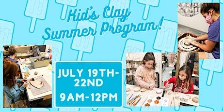 Kid's Clay Summer Program (July 19th-22nd) tickets