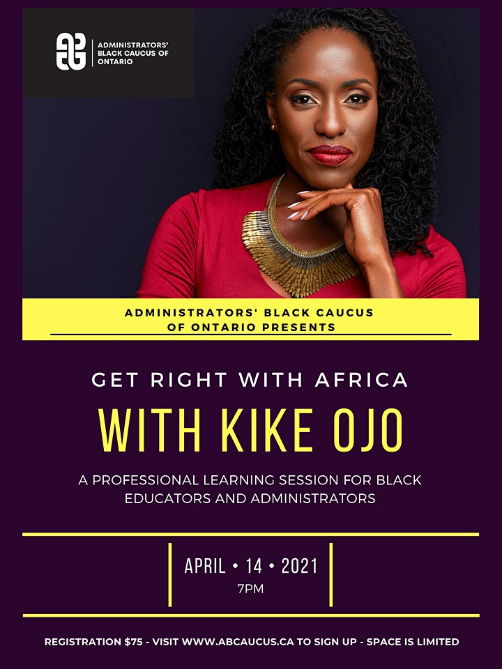 ABCAUCUS Presents Get Right With Africa with Kike Ojo image