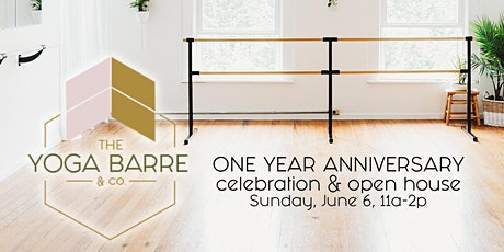 One Year Annivarsary of The Yoga Barre & Co tickets