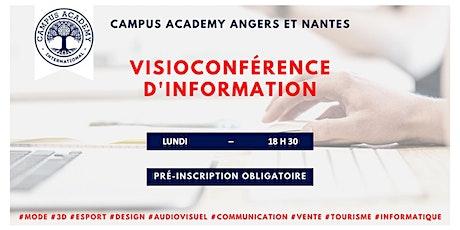 VISIOCONFERENCE D'INFORMATION Angers et Nantes billets