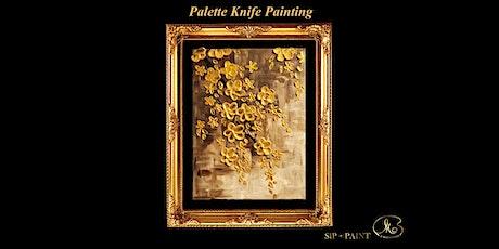 Palette Knife Painting Workshop : Golden Blossom (Sunday) tickets