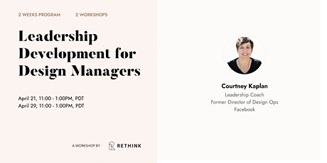 Leadership Development Program for  Design Managers tickets