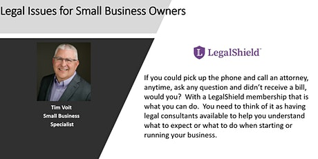 Legal Issues for Small Business Owners tickets