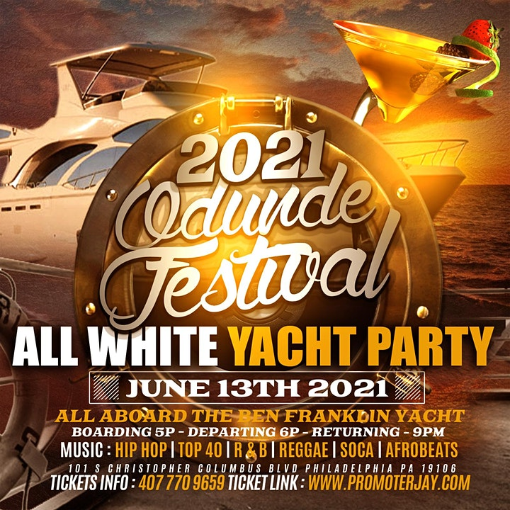 2021 Odunde Festival All White Yacht Party image