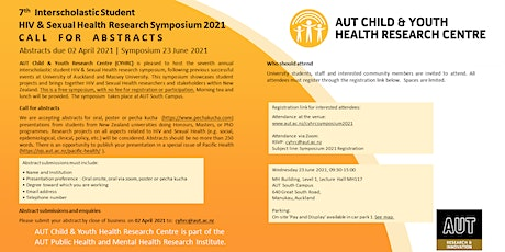7th Interscholastic Student HIV & Sexual Health Research Symposium 2021 tickets