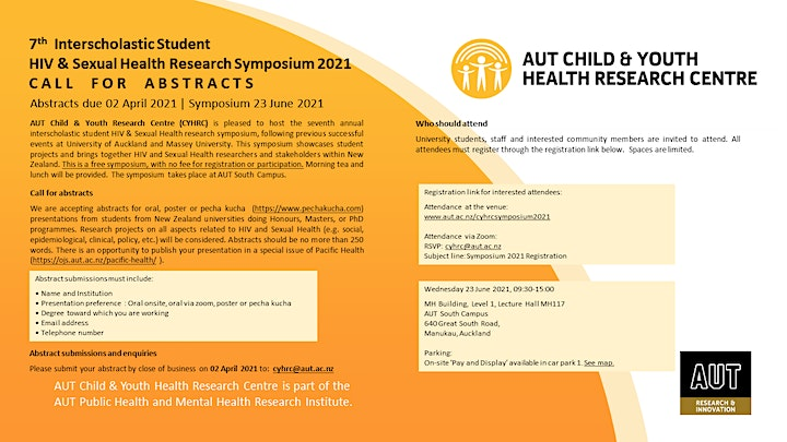 7th Interscholastic Student HIV & Sexual Health Research Symposium 2021 image